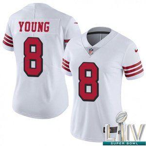 Women 49ers Steve Young Super Bowl LIV Jersey